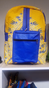 Bella African Bookbag - Yellow and Blue