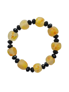 Light Yellow and Black Bella Africa Bracelet