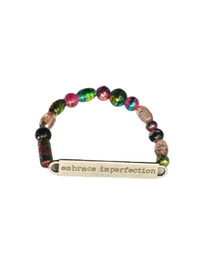 "Inspirational Beaded Bella Africa Bracelet ""Embrace Imperfection"""