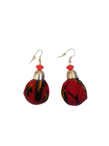 Red and Yellow Ball Shaped Bella Africa Earrings