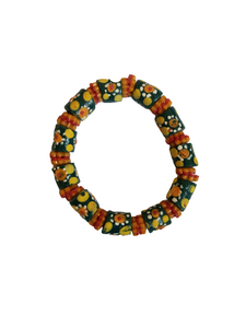 Green Yellow and Orange Bella Africa Bracelet