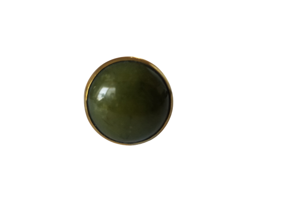 Made in Uganda Olive Green Agate & Brass Ring