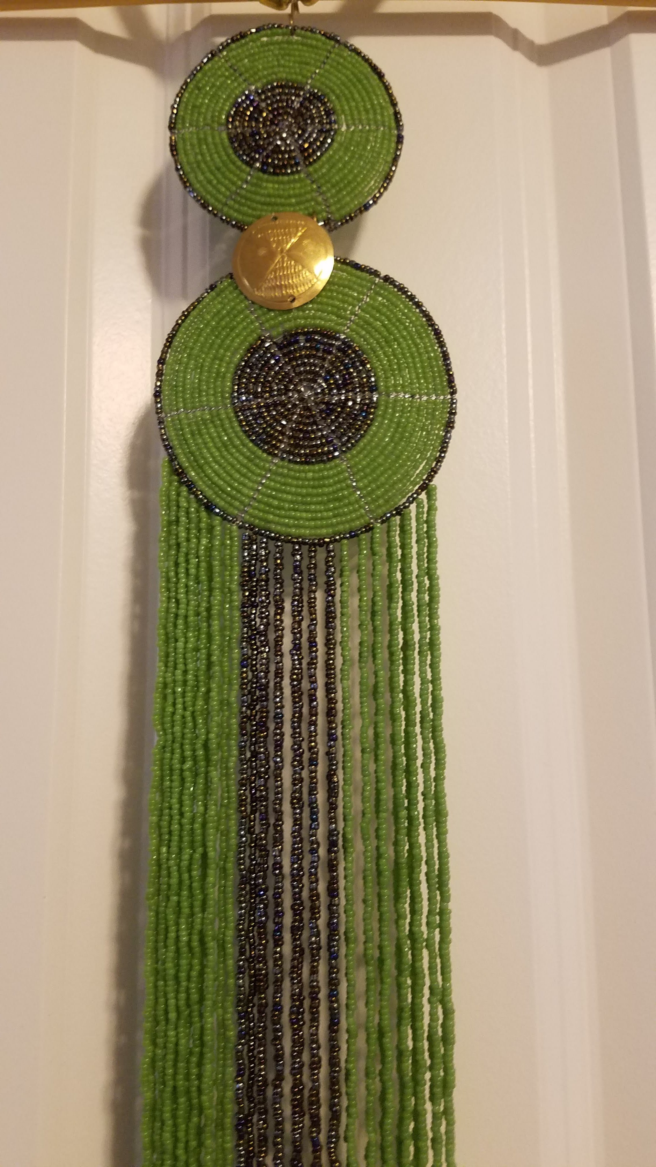 Bright Green Bella Africa Kenyan Beaded Necklace