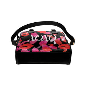 XOXO Kisses and Petals Black MINI BAG by AMMA JO
