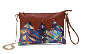 Wild Thing Brown Zig Zag Clutch