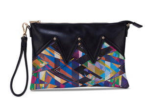 Wild Thing Black Zig Zag Clutch
