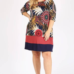 Boho Chic Floral Sheath Dress