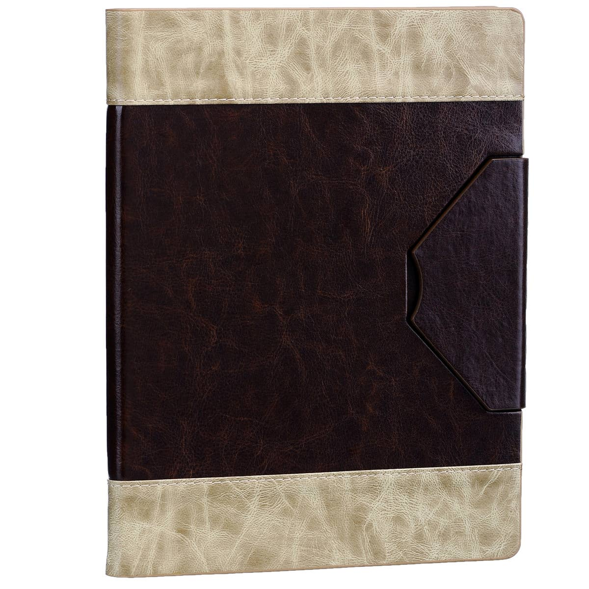 Cream and Brown iPad Cover