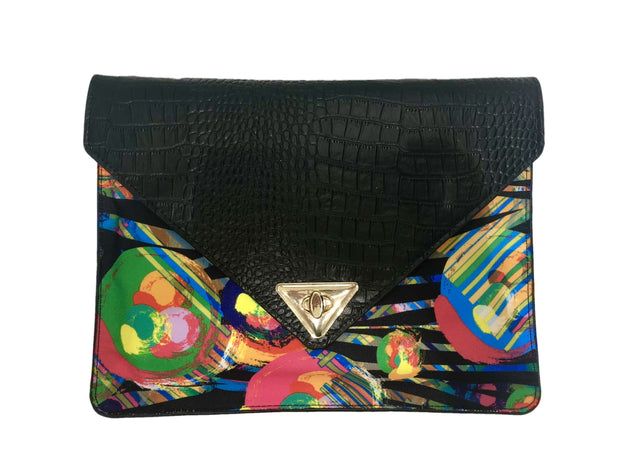 AMMA JO Wild Thing Genuine Leather Embossed Clutch 1
