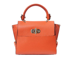 The AMMA JO Ava Bag (Made in Italy)- Orange Marmalade