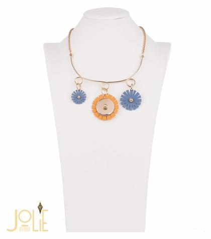 AMMA JO BELLISSIMO Florita Necklace Blue Silver