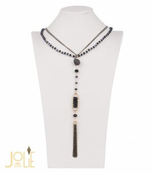 Open image in slideshow, AMMA JO BELLISSIMO Pendant Stone Necklace Pink