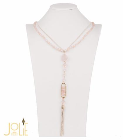 AMMA JO BELLISSIMO Pendant Stone Necklace Pink