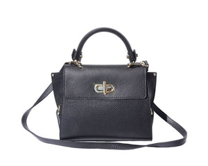 The AMMA JO Ava Bag (Made in Italy)- Black