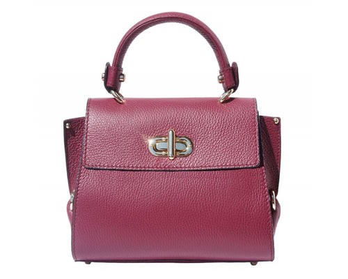 The AMMA JO Ava Bag (Made in Italy)- Plum Wine