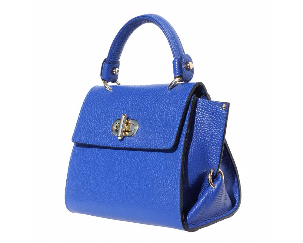 The AMMA JO Ava Bag (Made in Italy)- Electric Blue