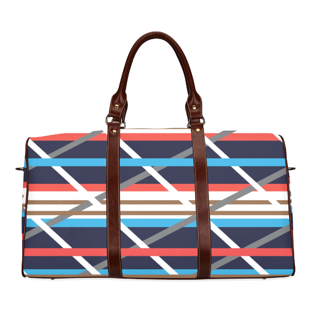 Hamptons Plaid Travel Duffle