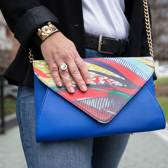 AMMA JO Blue Signature Wild Thing Clutch
