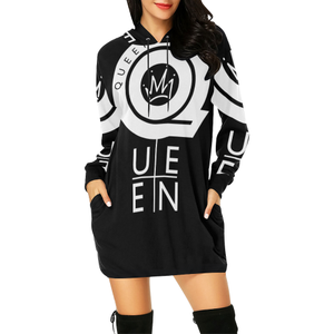 QUEEN DRESS All Over Print Hoodie Mini Dress (Model H27)