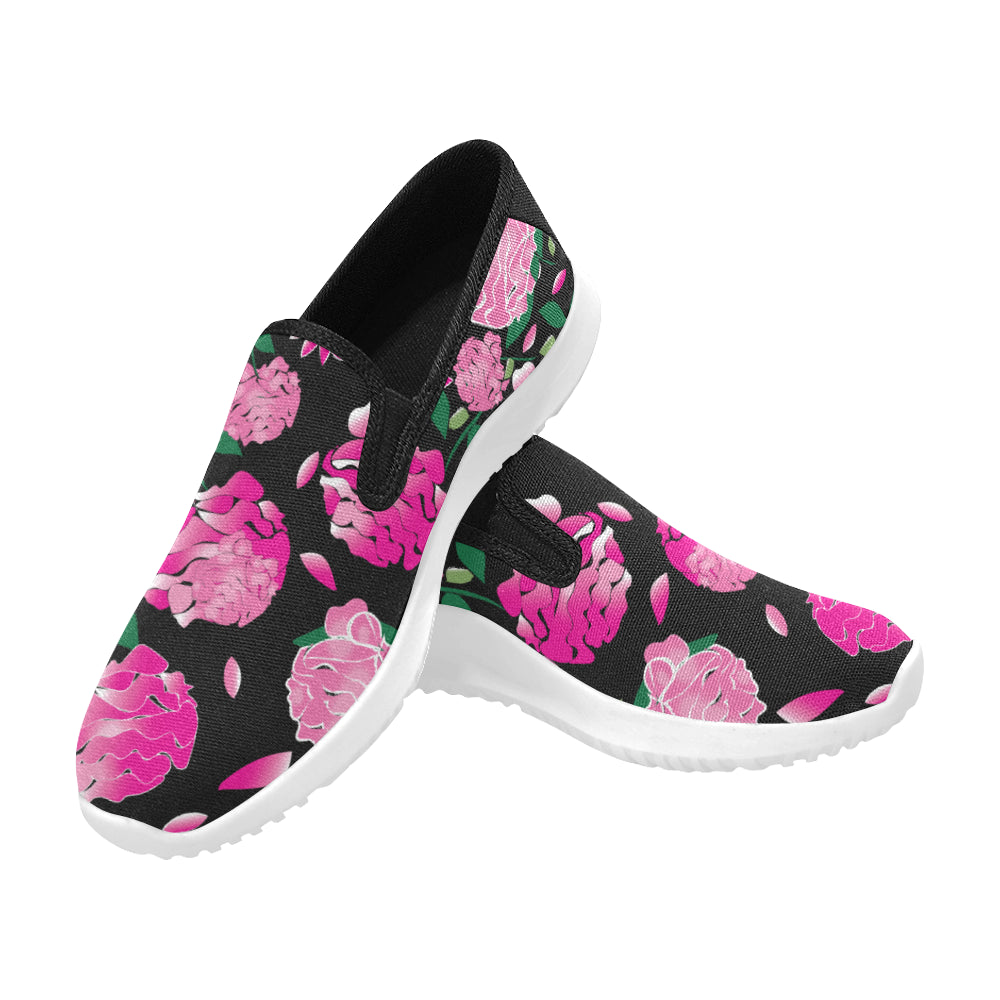 Pre-Order - AMMA JO Sport Peony Noire Slip On Walking Shoes