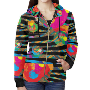 AMMA JO Sport Wild Flower Zip Up Hoodie