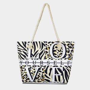 Love Themed Beach Bag