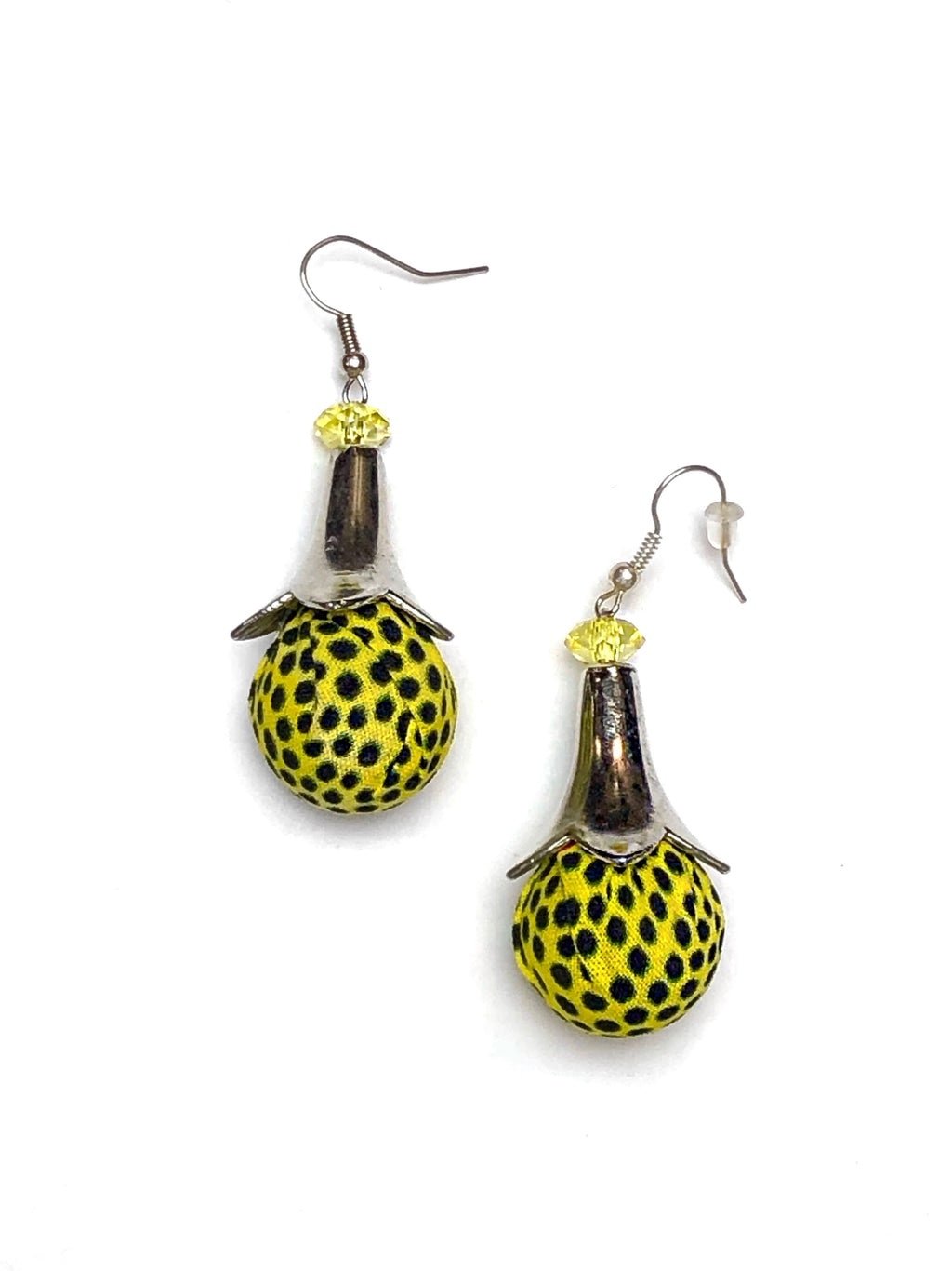 Yellow Spotted Bella Africa Earrings