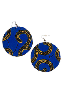 Royal Blue Circle Bella Africa Earrings