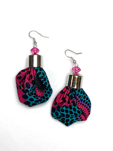 Pink and Blue Spotted Bella Africa Earrings