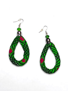 Green Oval Bella Africa Earrings