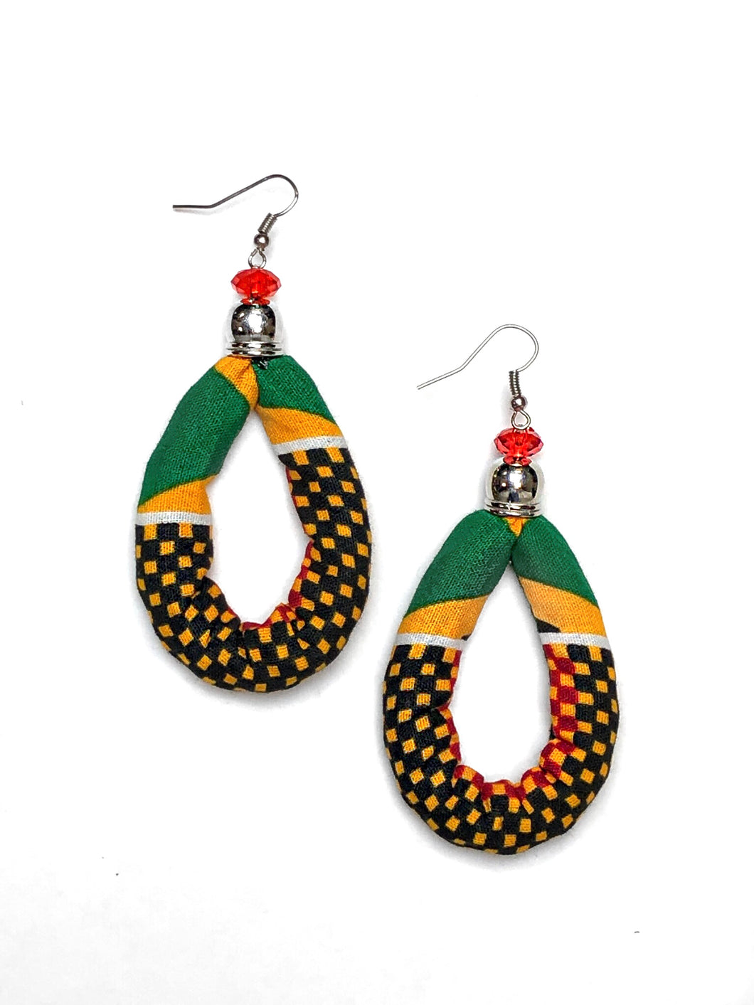 Checkered Oval Bella Africa Earrings