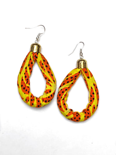 Yellow Dotted Oval Bella Africa Earrings