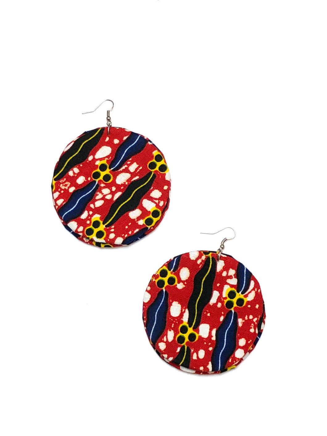 Red Circle Bella Africa Earrings