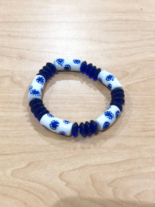 Blue and White Bella Africa Bracelet