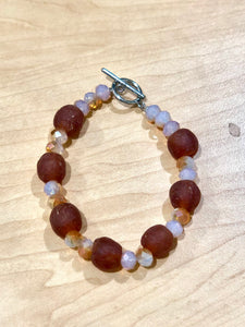 Brown and Tan Clasped Bella Africa Bracelet