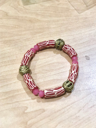 Pink and gold Bella Africa Bracelet