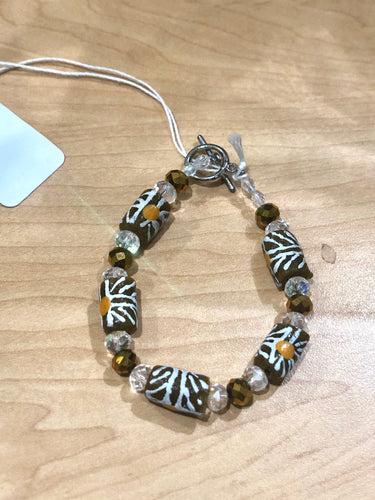 Brown Beaded Bella Africa Bracelet