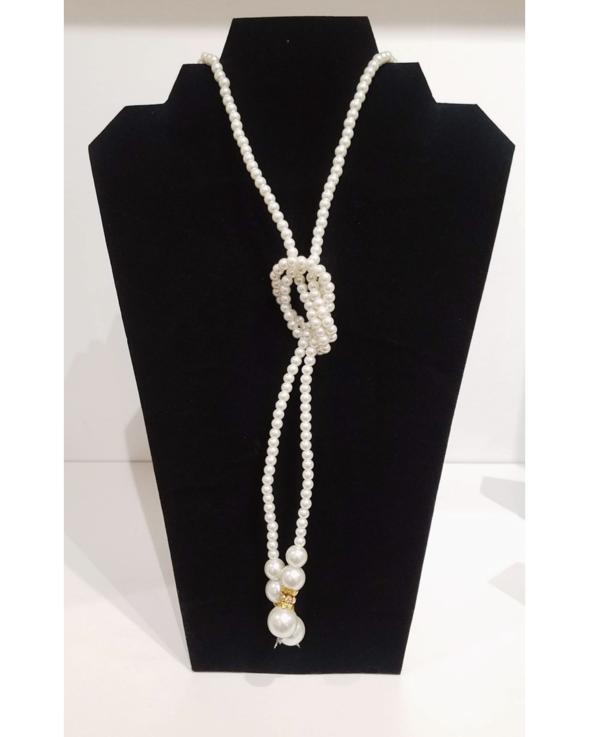 Roped Pearl Strand Necklace