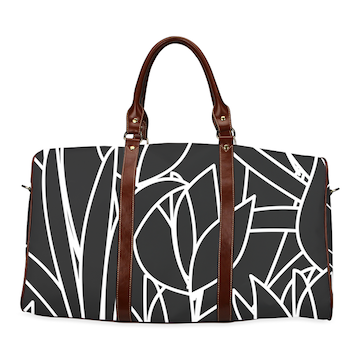 La Fleur Noire Waterproof Travel Bag