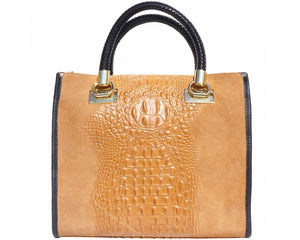 2020 MODA Lady Tote - Camel (Made in Italy)