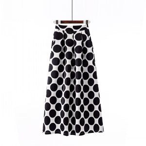 Open image in slideshow, Spring 2021 Polka Dot Skirt with Pockets