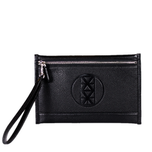 AMMA JO-Black Signature Wallet Clutch