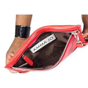 AMMA JO-Red Signature Wallet Clutch