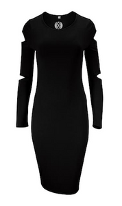 Black Cut Out SIGNATURE Dress
