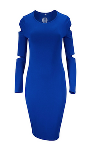 Blue Cut Out SIGNATURE Dress