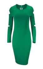 Green Cut Out SIGNATURE Dress