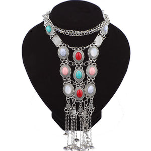 Open image in slideshow, The Goddess Multilayer Chain Necklace