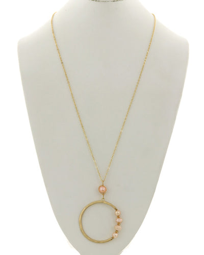 Soft Pearl and Peach Necklace (Set 1B)