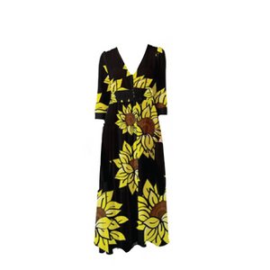 Open image in slideshow, ARRIVES 3/15 - AMMA JO Sunflower Chiffon Maxi Dress