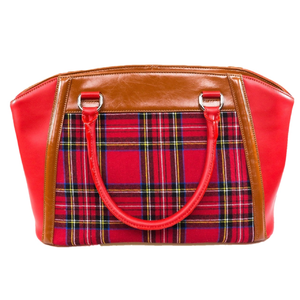 Tartan Girl Leather Tote